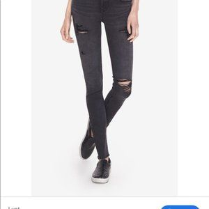 Express Distressed Super Soft Ankle Leggings